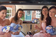 Bramwith bride and bridesmaids in back 225x150