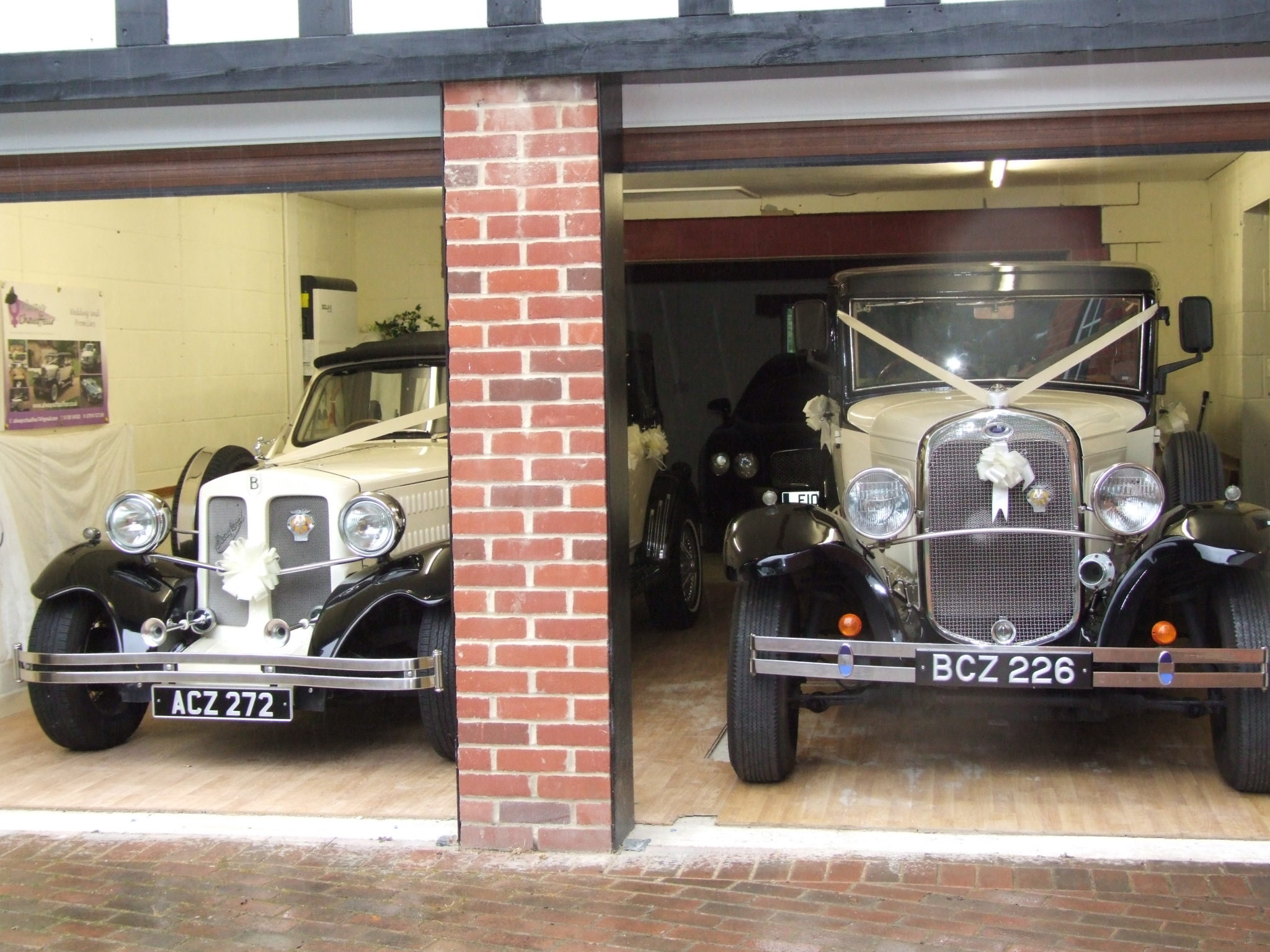 Beauford in the garage
