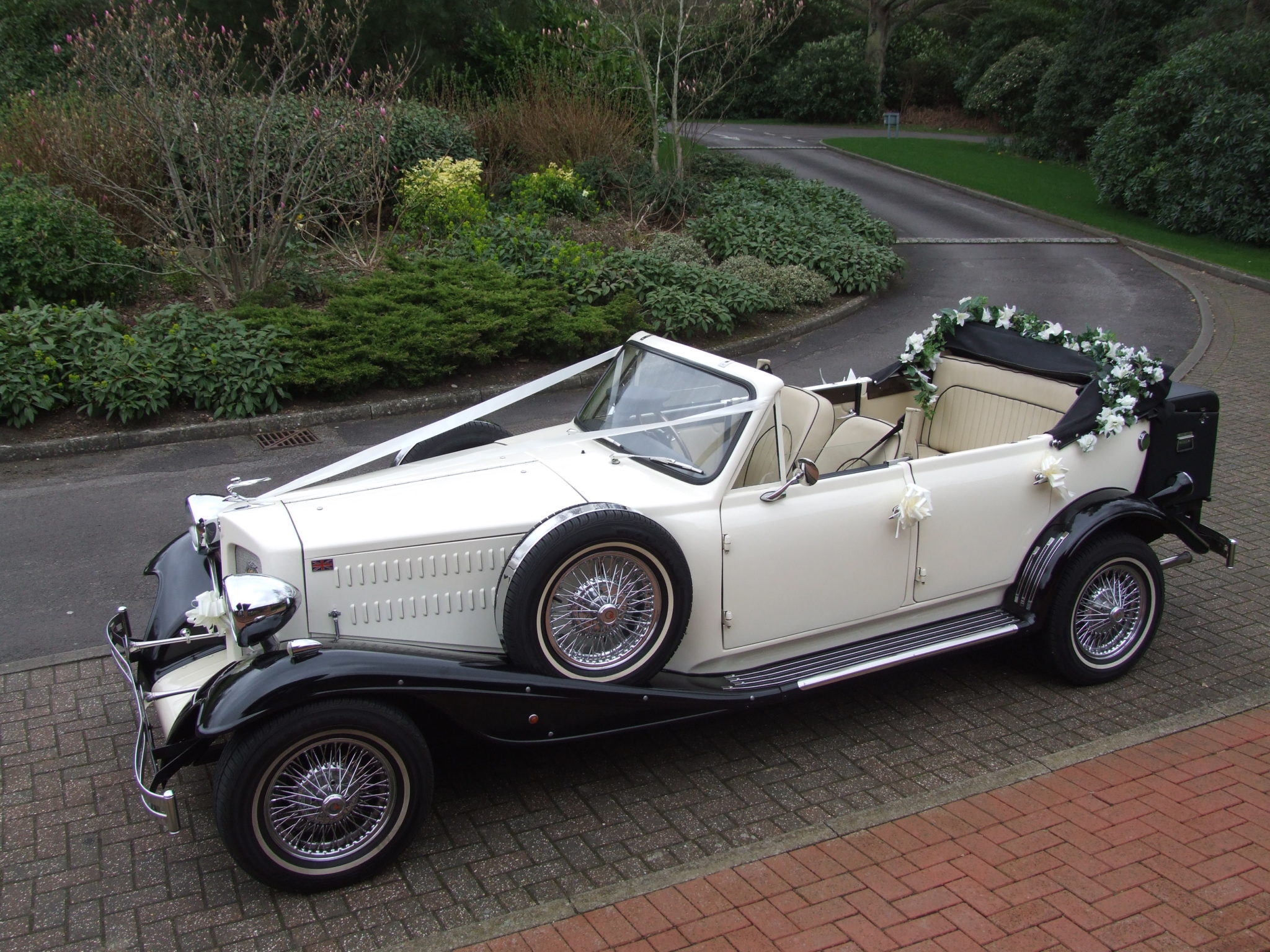 Beauford with roof down