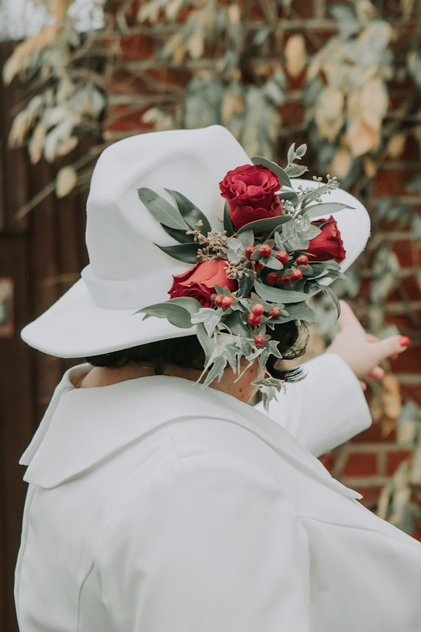Beautiful hat for a bride